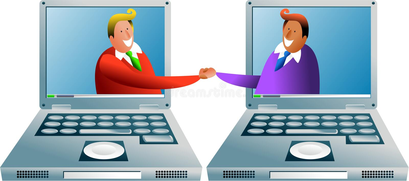 计算机交易 向量例证