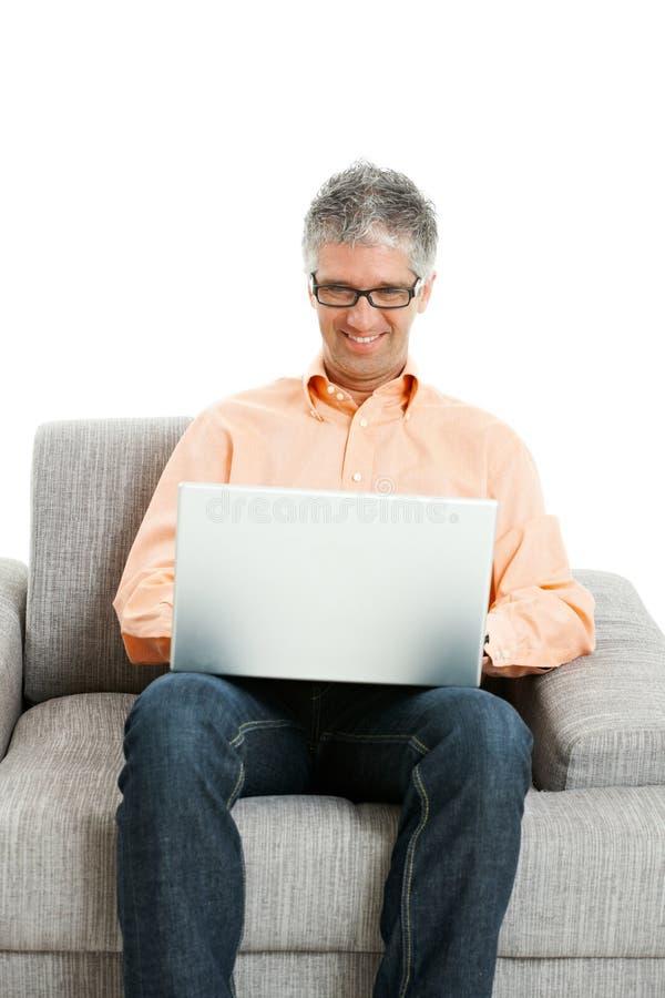 计算机人工作 免版税库存照片