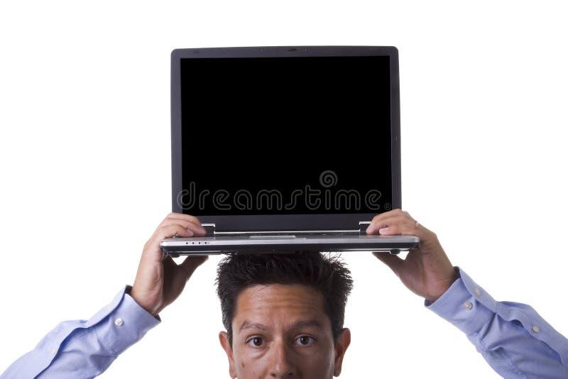 计算机人 免版税库存照片