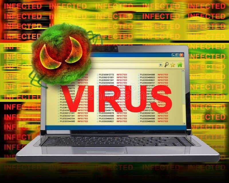 计算机传染互联网病毒 库存图片