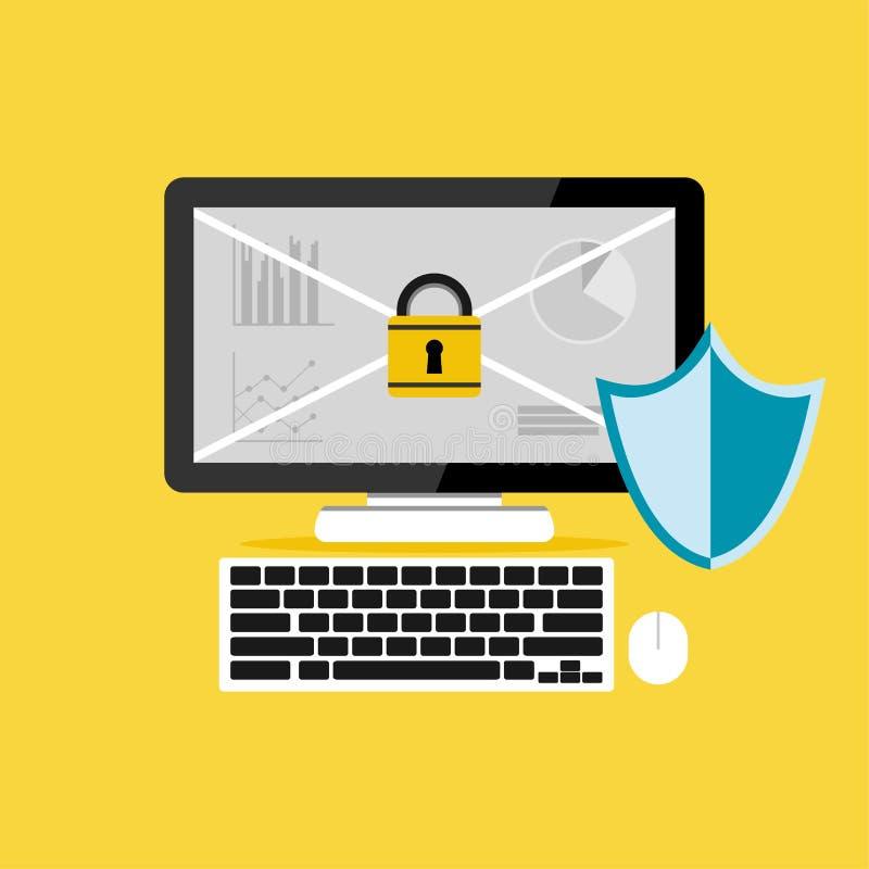 计算机保护 数据保护 背景CD的数据盘堆积在挂锁安全白色的查出的关键字 库存例证