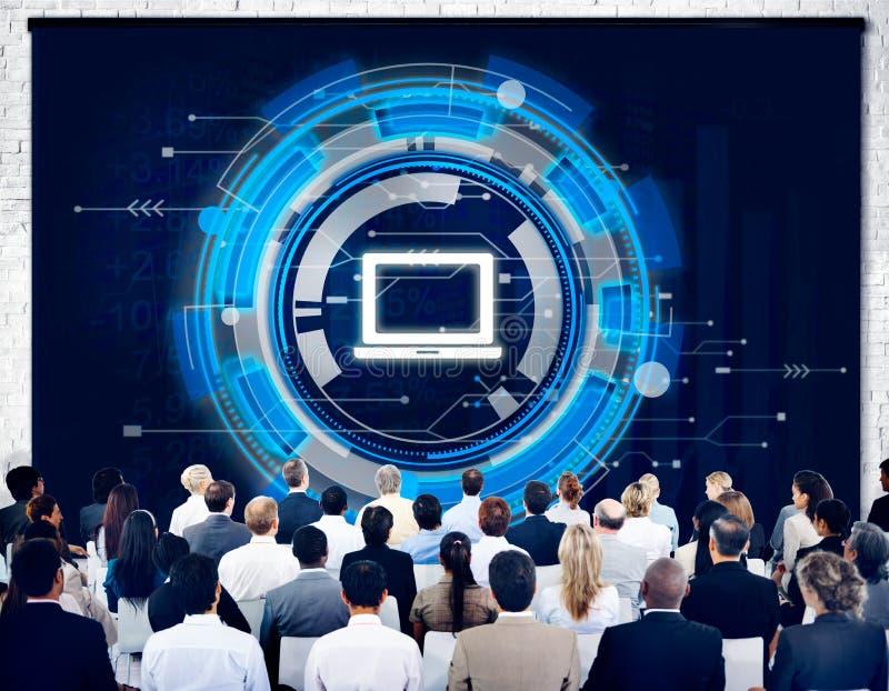 计算机信息技术连接概念 皇族释放例证