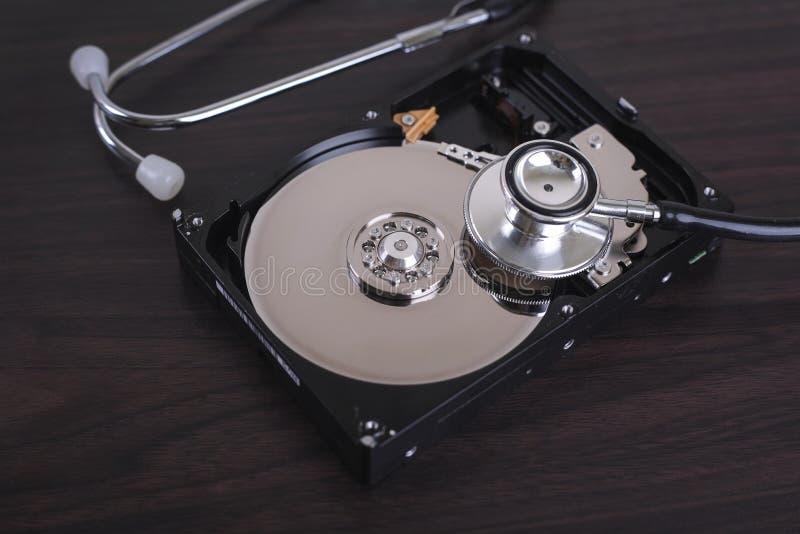 计算机修理和数字资料补救的描述 库存图片