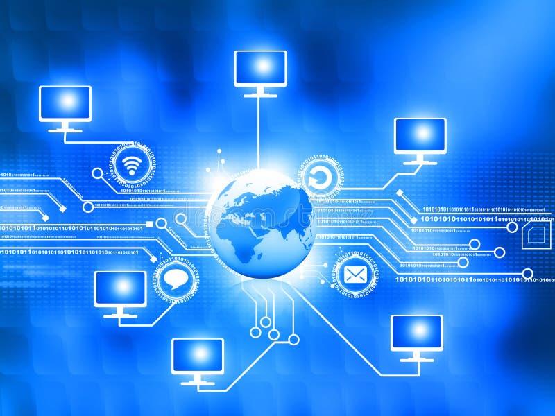 计算机全球网络 向量例证