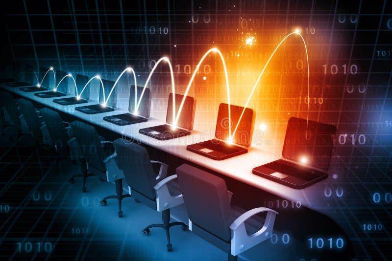 计算机全球网络 皇族释放例证