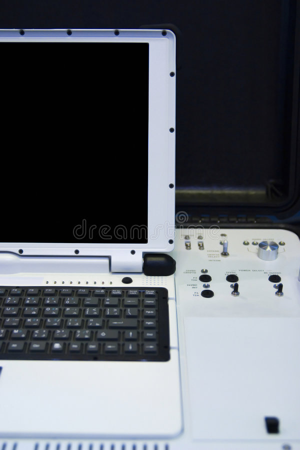 计算机军人 免版税图库摄影