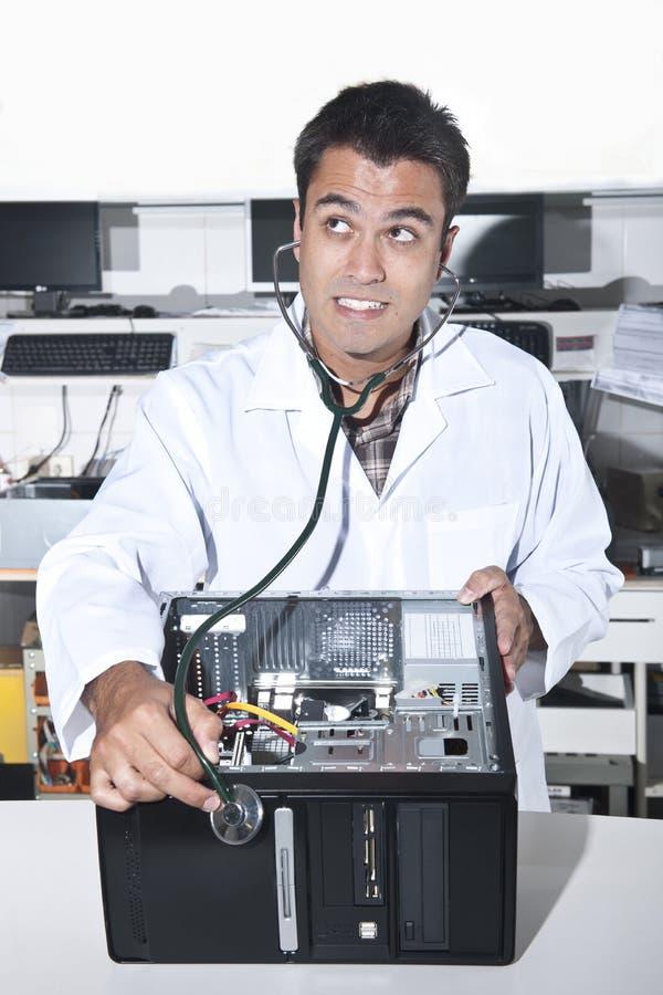 计算机医生个人计算机问题 免版税库存图片
