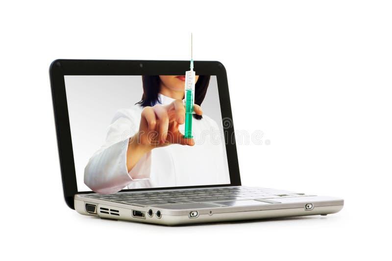 计算机医生屏幕 免版税库存图片