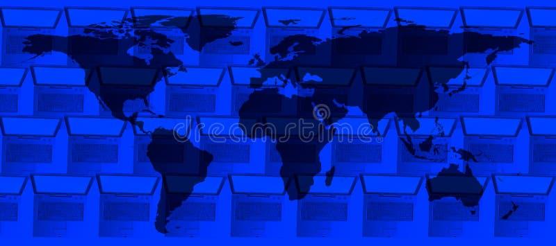 计算机和世界的概念性技术图象 库存图片