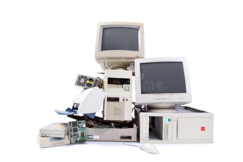 计算机和电子浪费 库存照片