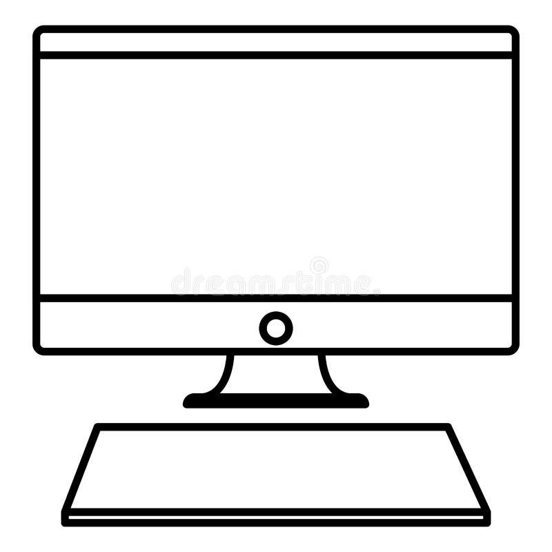 计算机和键盘设计 库存例证