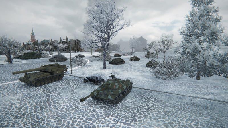 计算机图表坦克比赛世界  皇族释放例证