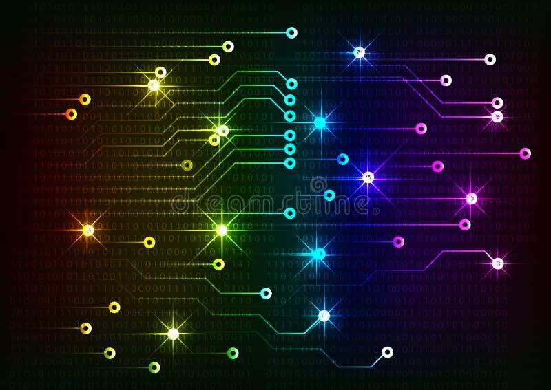 计算机图表网站互联网和事务的抽象技术背景 向量例证