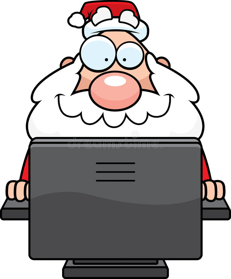 计算机圣诞老人 库存例证