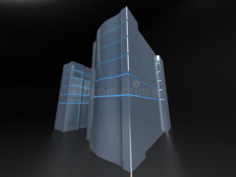 计算机塔 向量例证