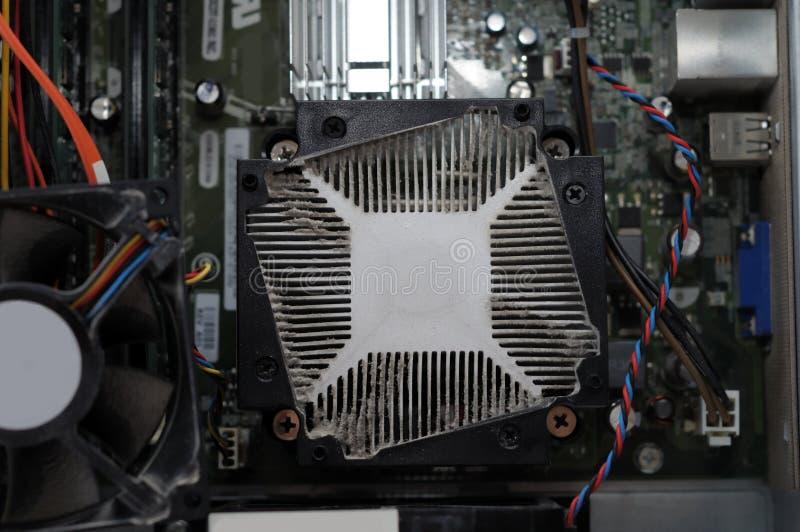 计算机多灰尘的风扇 免版税库存图片