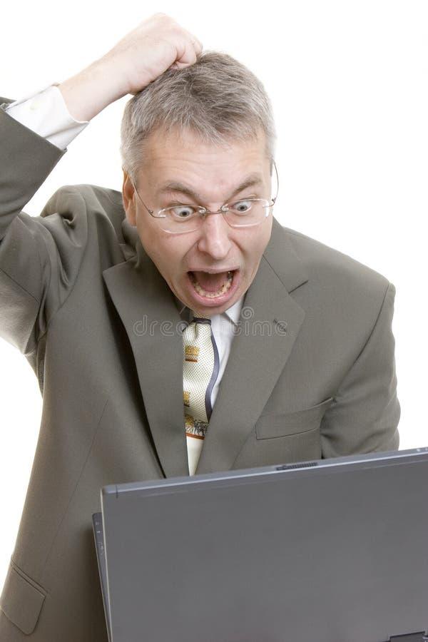计算机失败 库存照片