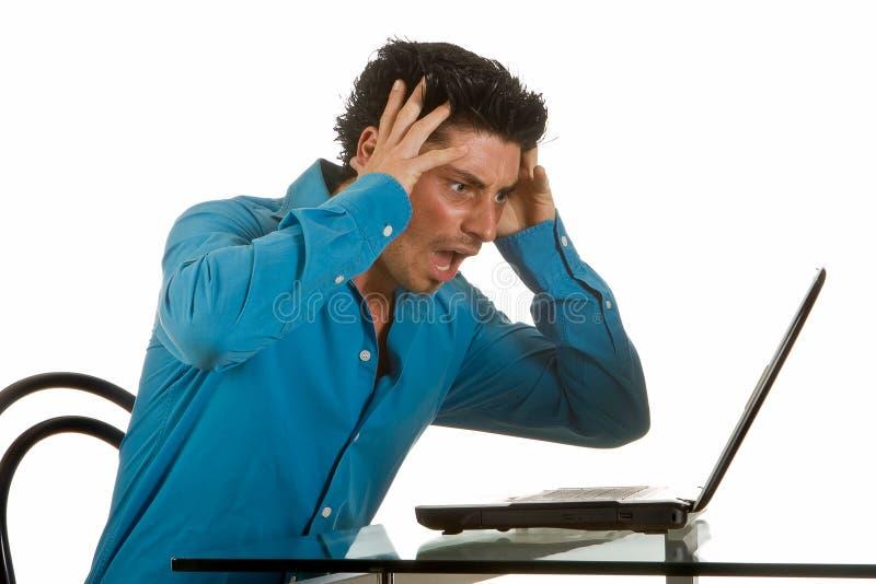 计算机失败 免版税库存图片