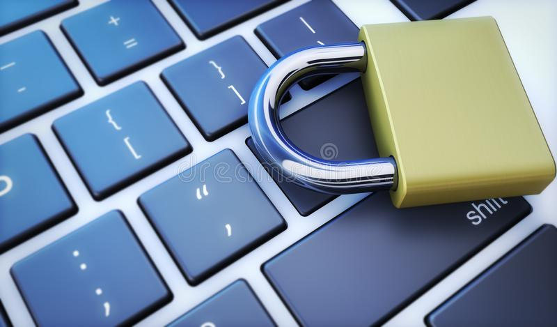 计算机安全和网络安全概念 向量例证