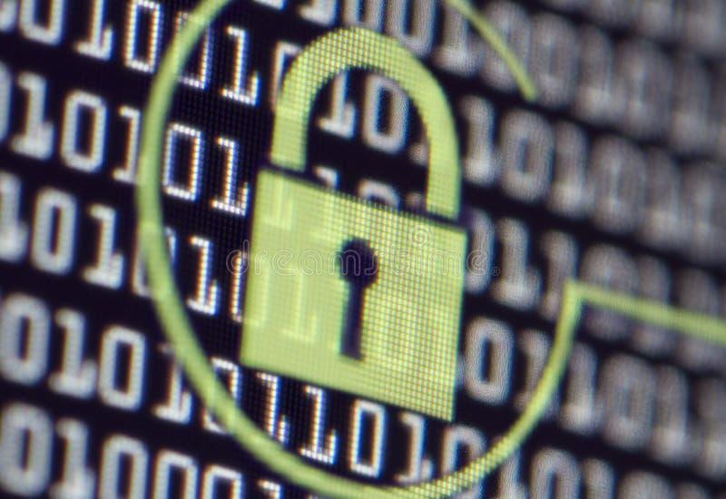 计算机安全锁 免版税库存图片