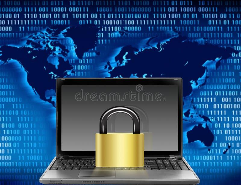 计算机安全 皇族释放例证