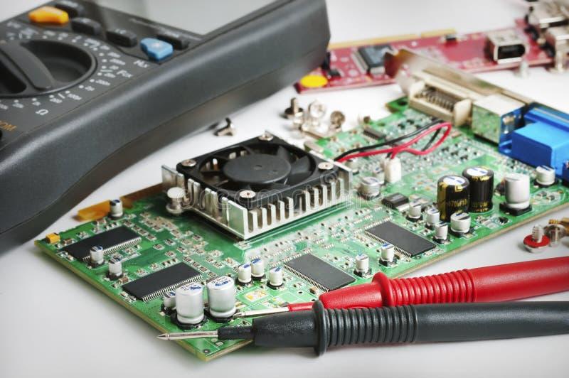 计算机安排s技术人员工作 图库摄影