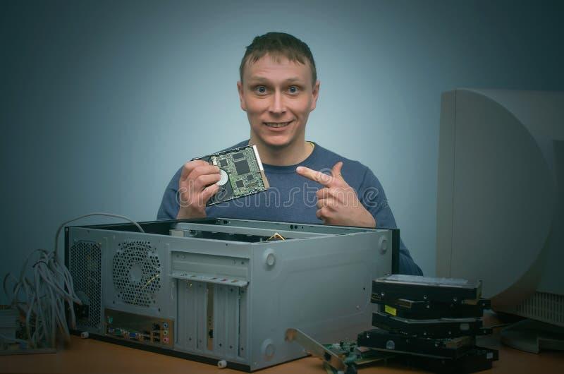 计算机安装工 免版税库存照片