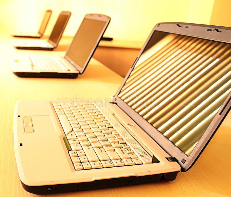 计算机室培训 图库摄影