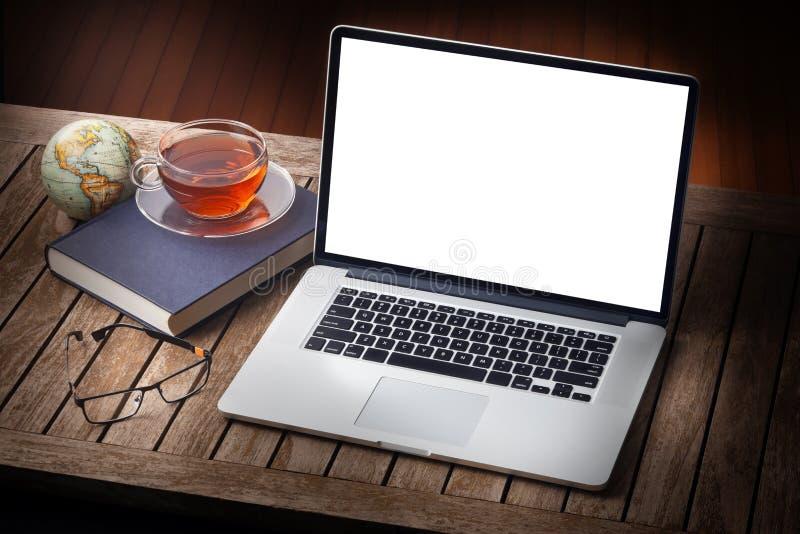 计算机家庭书桌 免版税图库摄影