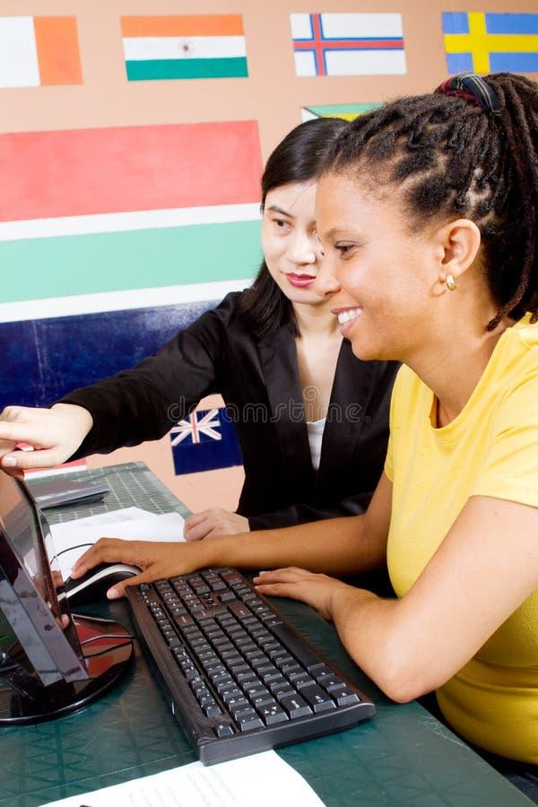 计算机家庭教师 免版税库存图片