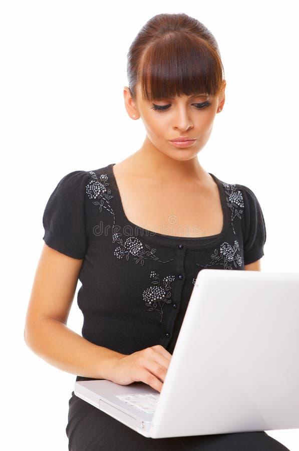 计算机工作者 免版税图库摄影