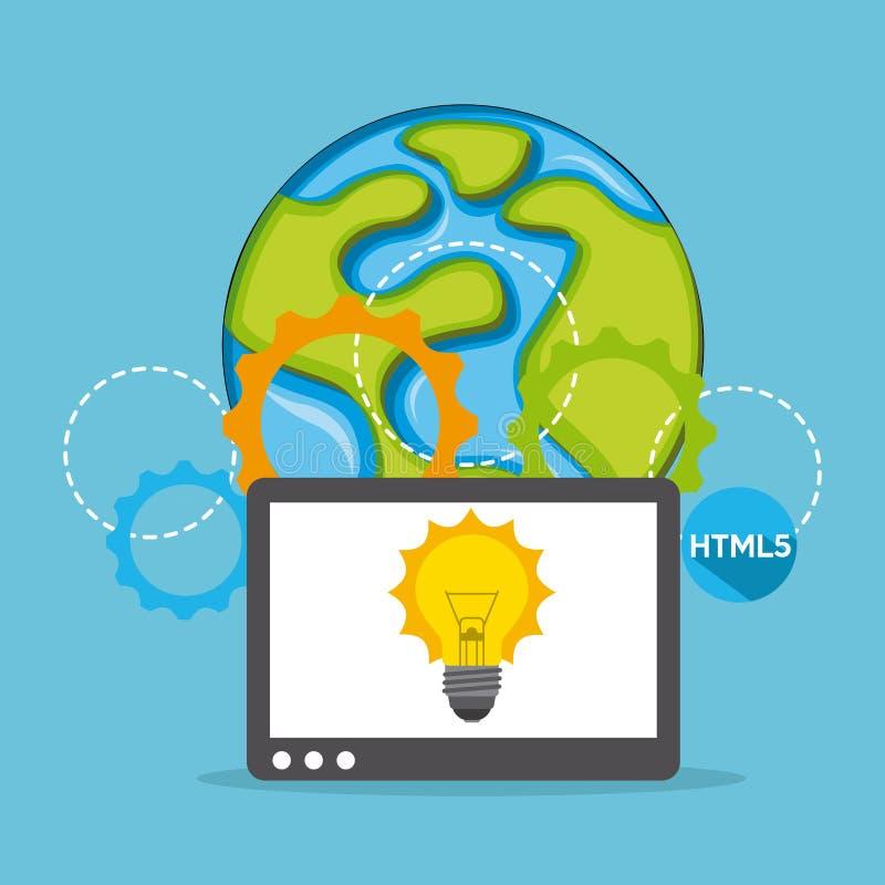 Download 计算机工作 向量例证. 插画 包括有 创造性, 符号, 平面, 图标, 抽象, 例证, 方法, 计算机, 向量 - 59100341