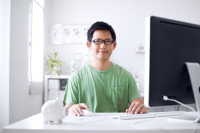 计算机工作 免版税库存照片