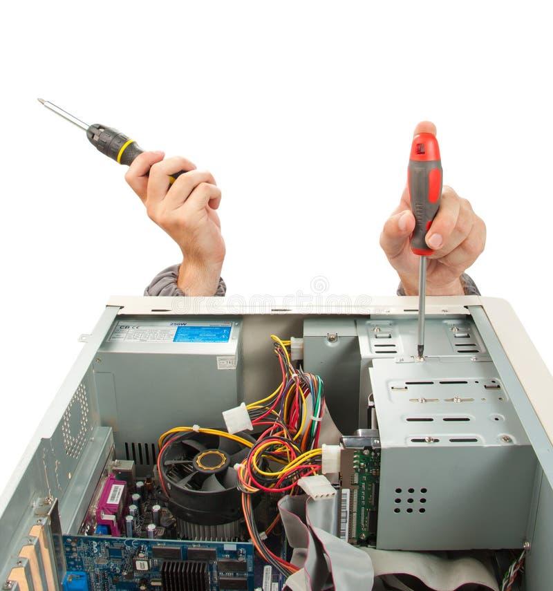 计算机工程师技术支持 免版税库存照片
