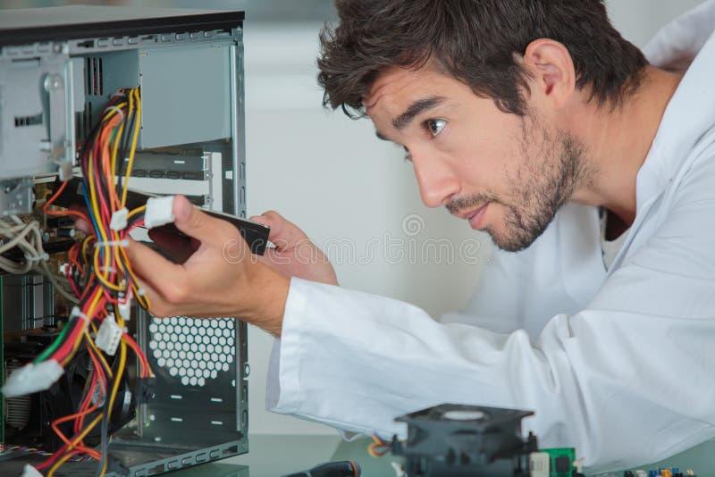 计算机工程师解决问题 免版税库存图片