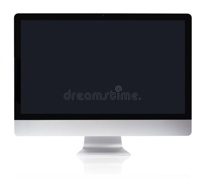 计算机平稳监控程序的个人计算机 免版税库存照片