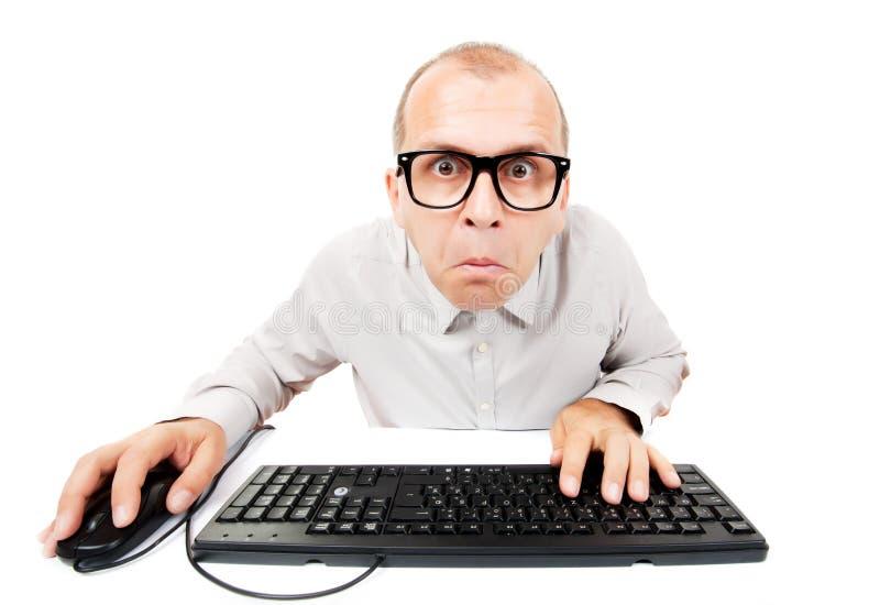 计算机怪杰 免版税库存图片