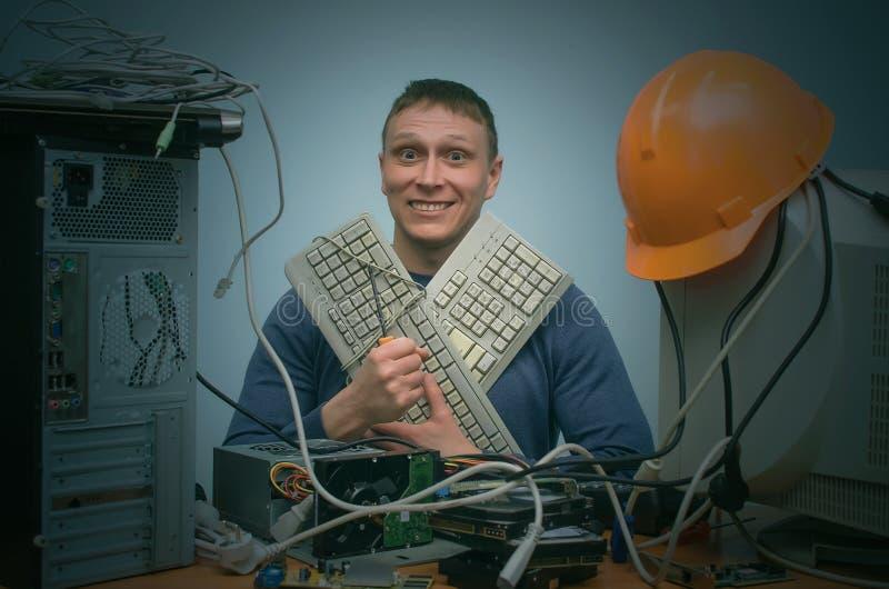 计算机技术员 免版税库存照片