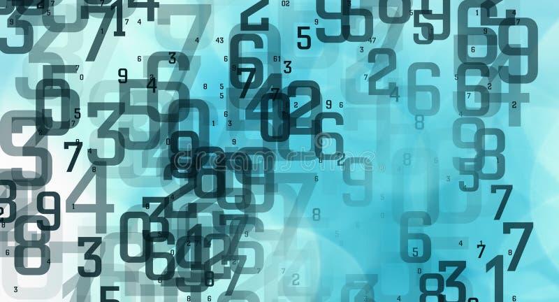 计算机抽象代码数字,被保护的大数据数据库 皇族释放例证