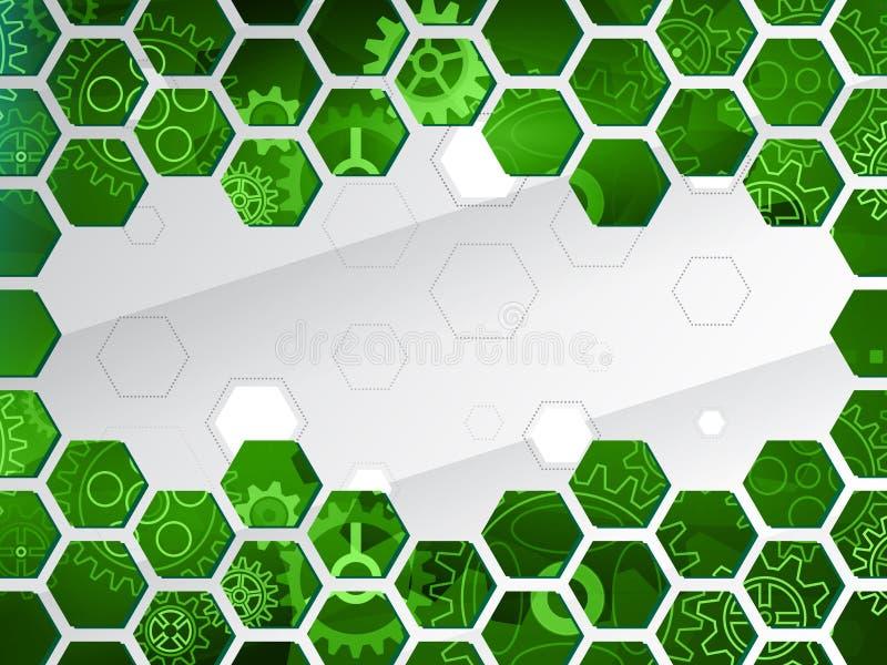 计算机控制学的电路板传染媒介例证 您的文本的未来派构成 向量例证