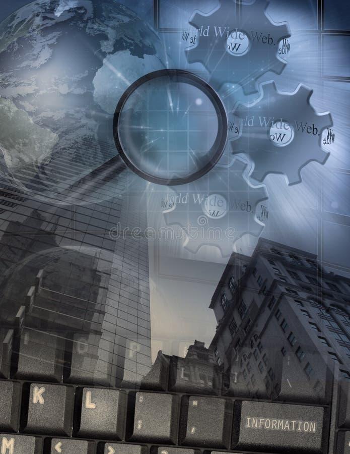 计算机搜索和安全 免版税图库摄影