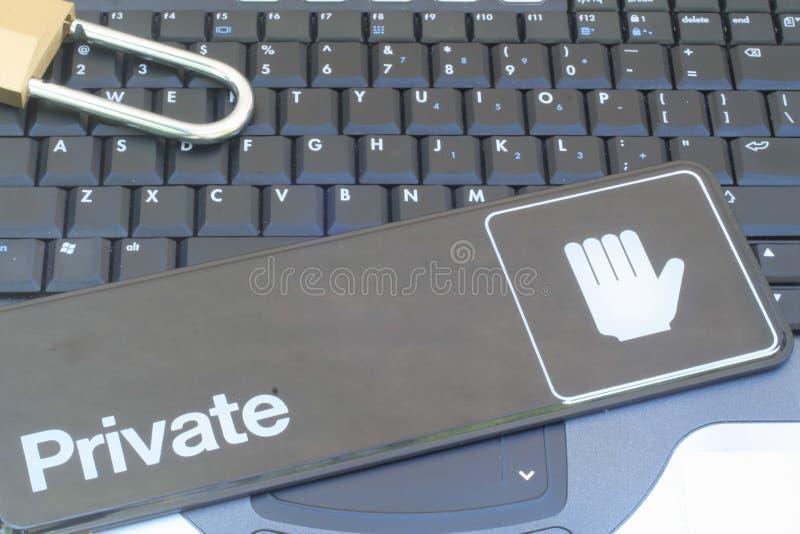 计算机数据保密性证券 库存照片