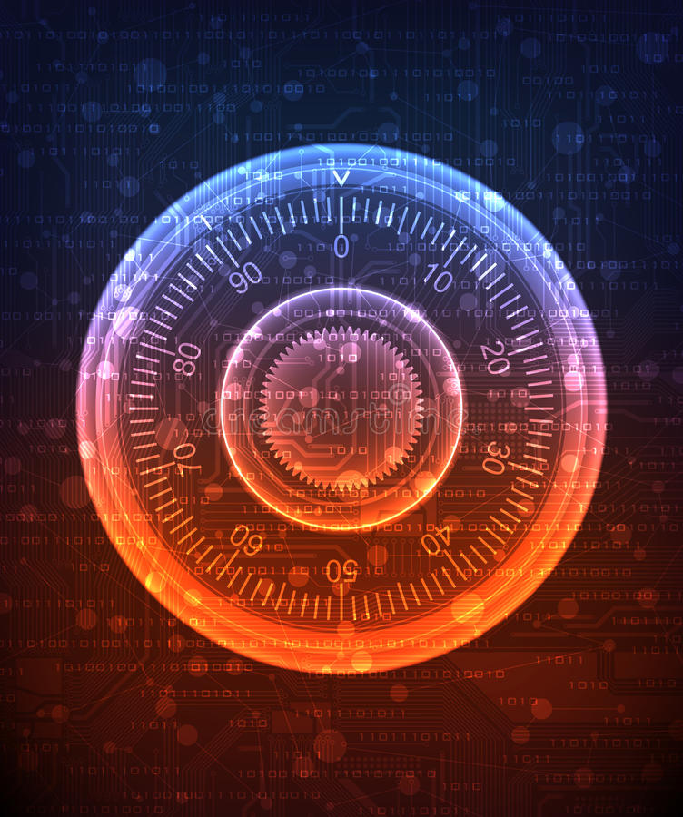 计算机数据安全性 皇族释放例证