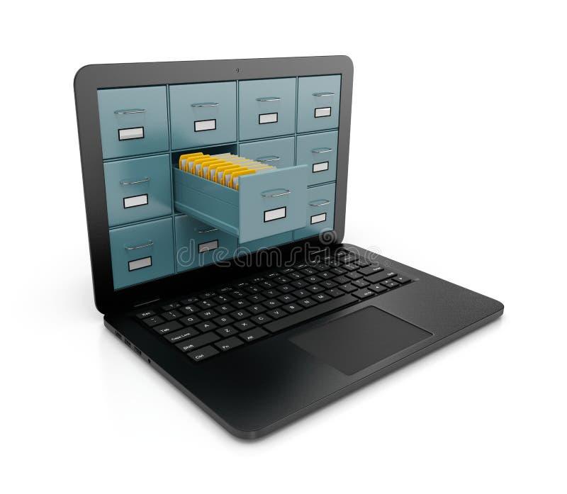 计算机数据库询问 库存例证