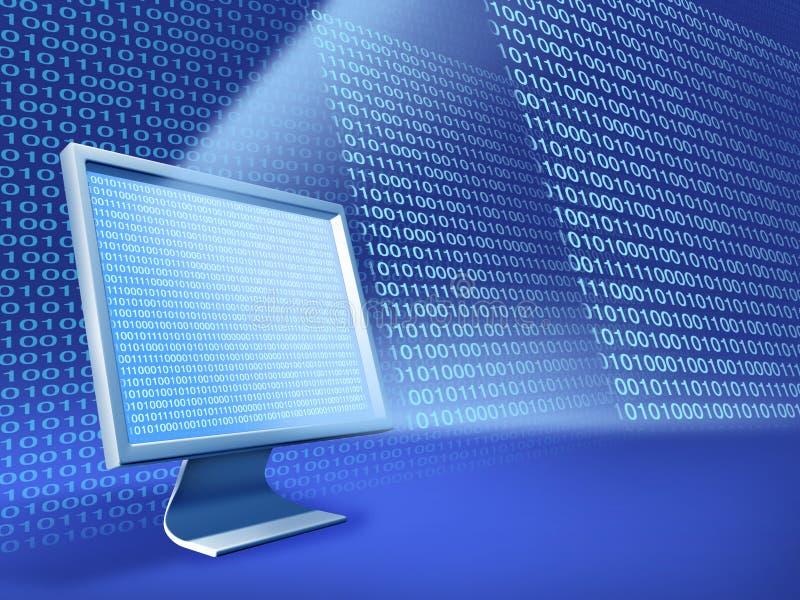 计算机数据 皇族释放例证