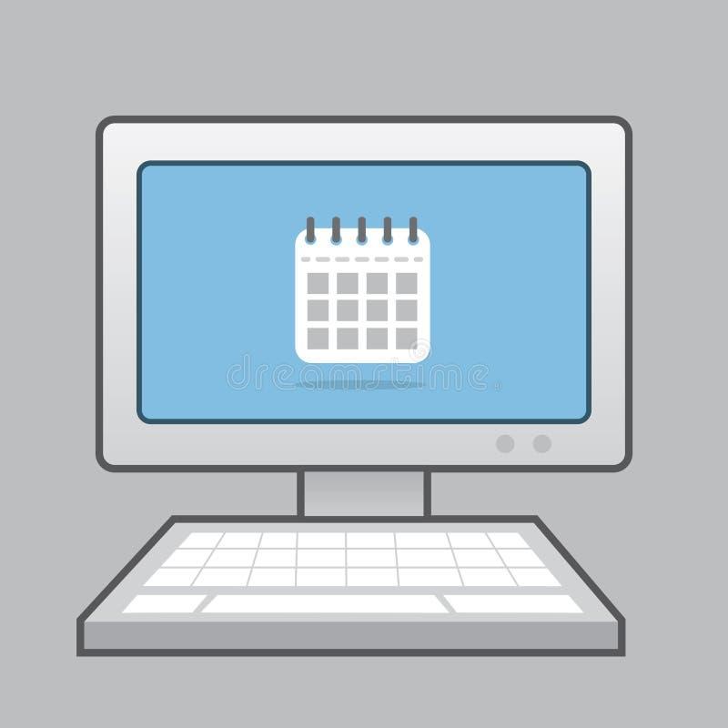 计算机日历象 库存例证