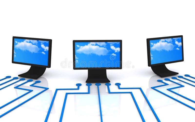 计算机显示器   向量例证