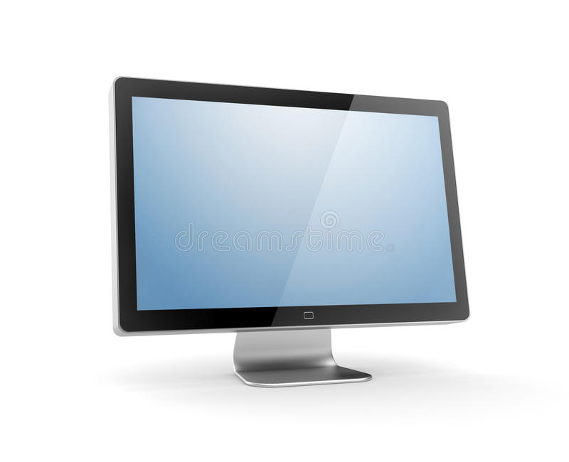 计算机显示器 皇族释放例证