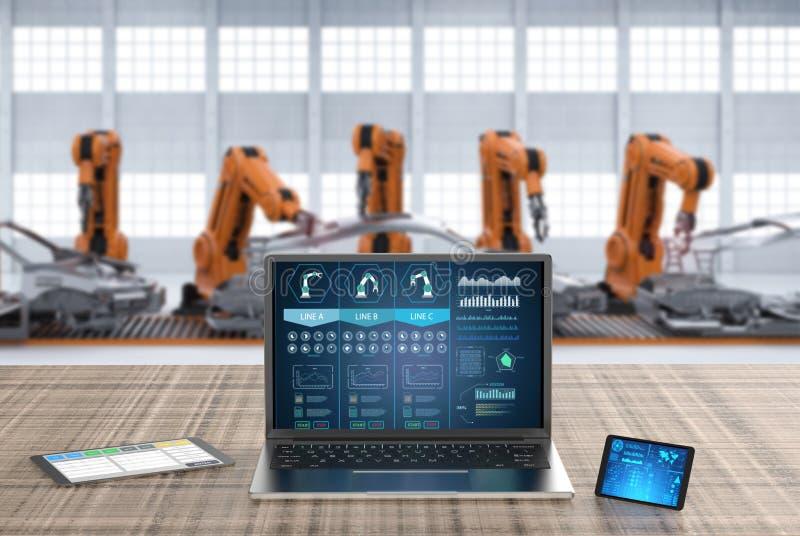 计算机显示器ai系统 皇族释放例证