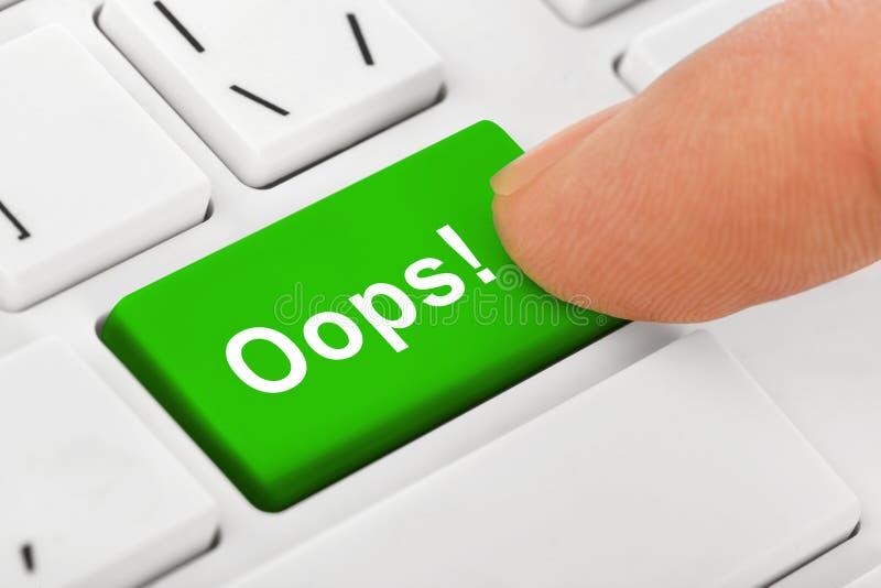 计算机有哟钥匙的笔记本键盘 免版税库存图片